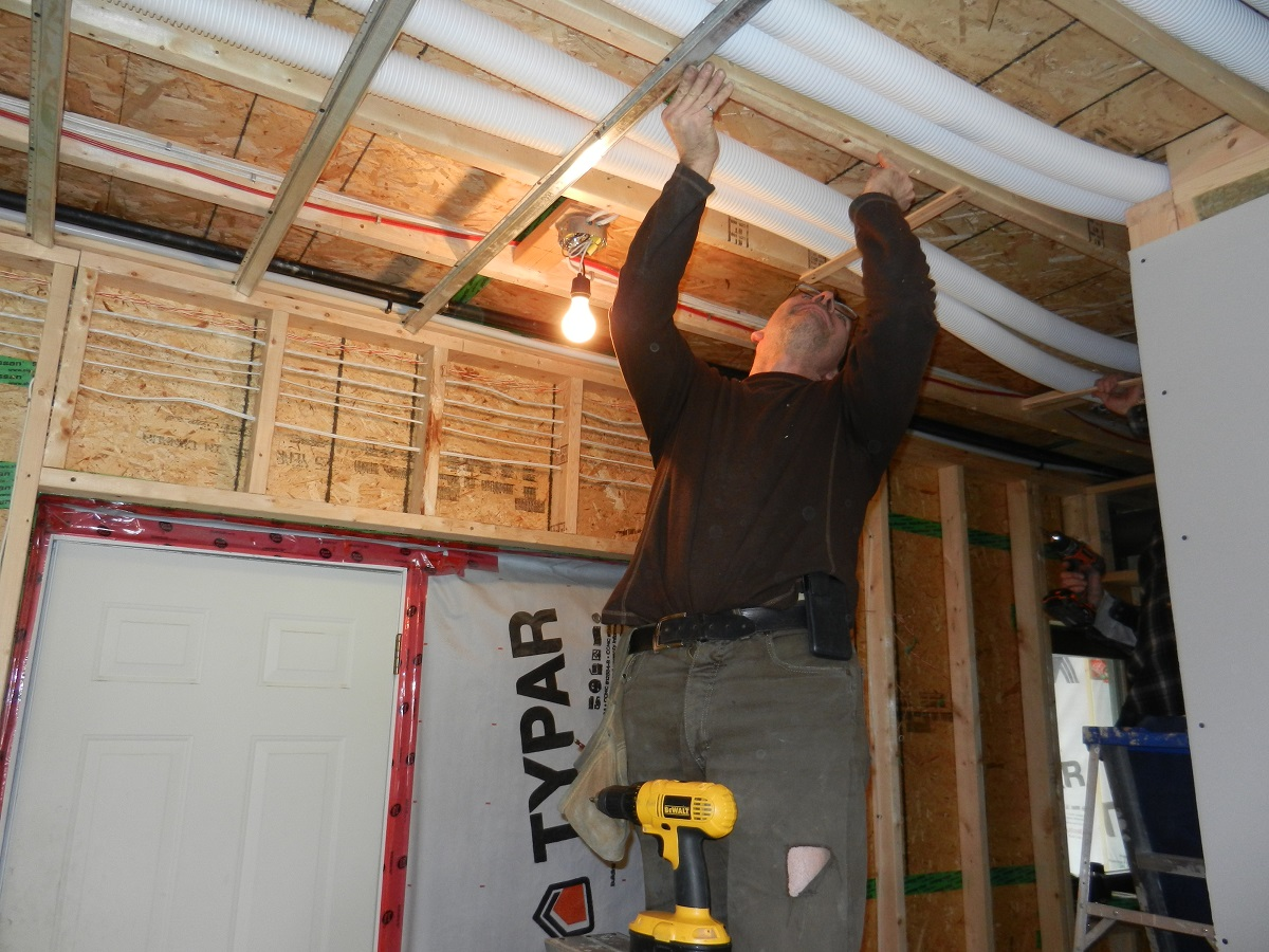 Week 40-43 Natural Gas Lines, Resilient Channel, Drywall, Mechanical ...